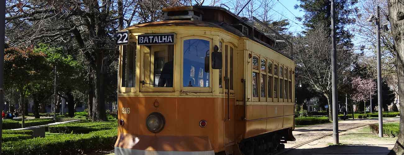 Tramway à Porto