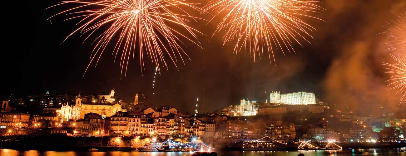 Feux d'artifice à Porto