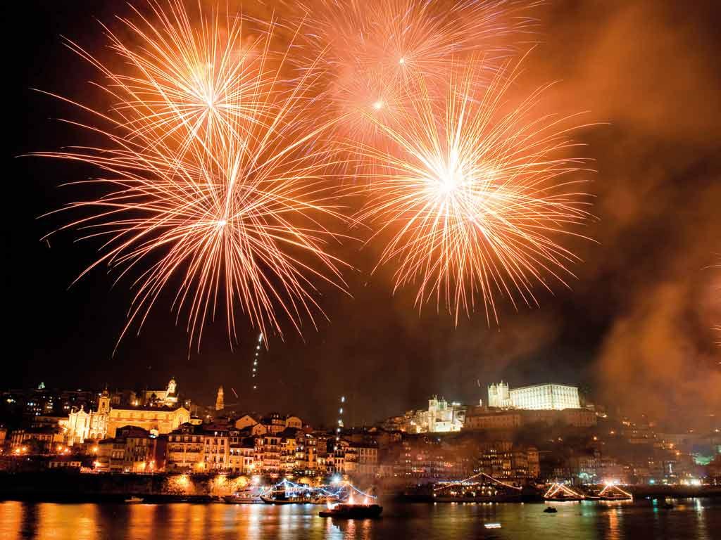 Feux d'artifices à Porto