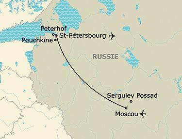 L'itinéraire de votre circuit en Russie